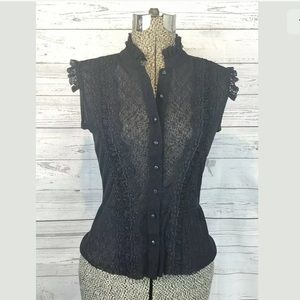 Free people lace shirt no size tag found xs?